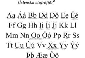 Исландский алфавит